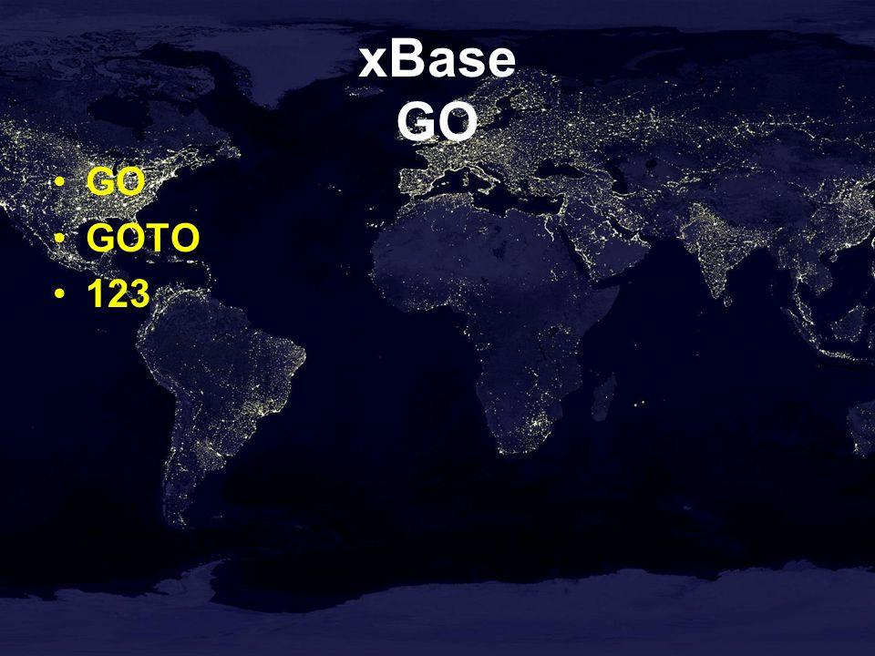 xBase GO GO GOTO 123