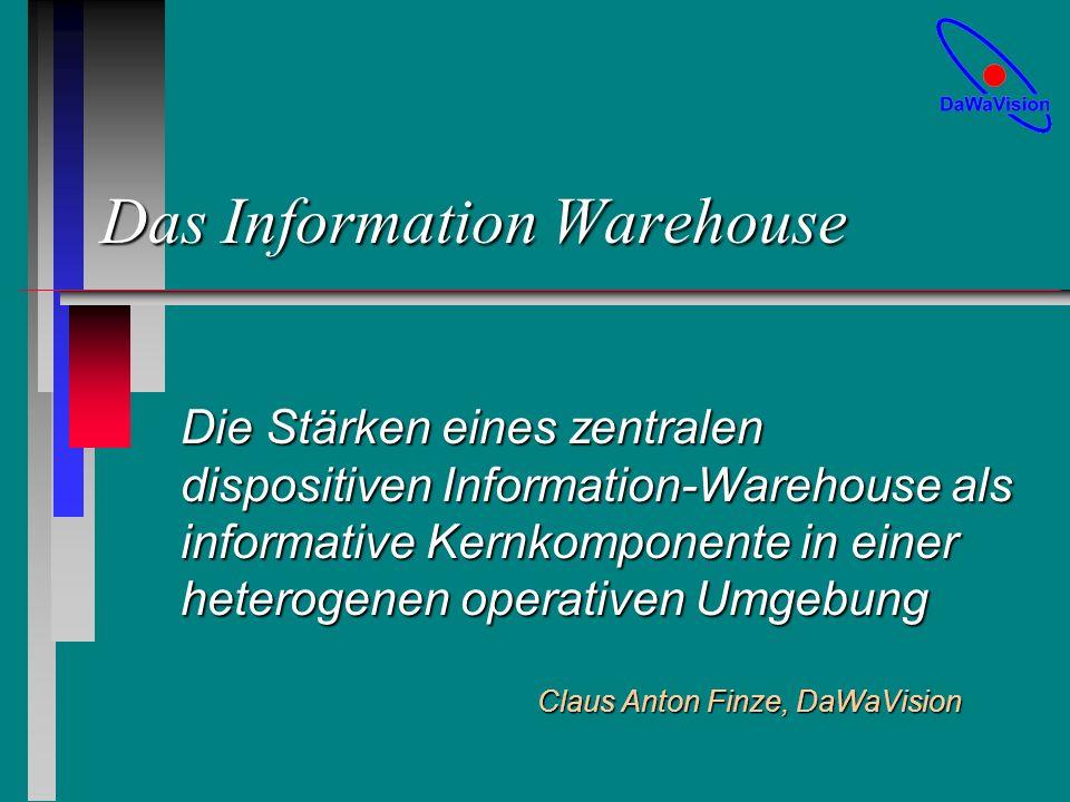 Claus Anton Finze, DaWaVision Folie 22 Schwieriges Marketing n Akzeptanz Interpretierbarkeit der InformationenInterpretierbarkeit der Informationen