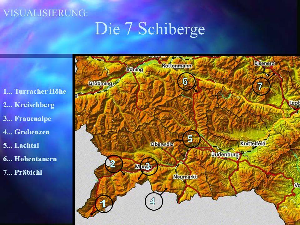 D ie 7 S chiberge 1... Turracher Höhe 2... Kreischberg 3...