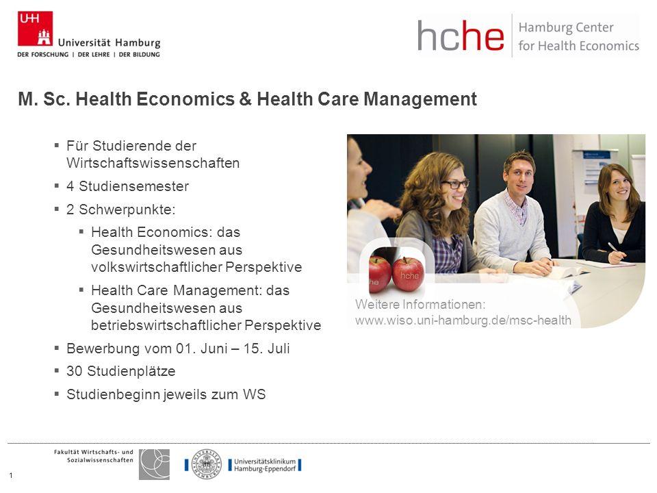 Für Studierende der Wirtschaftswissenschaften 4 Studiensemester 2 Schwerpunkte: Health Economics: das Gesundheitswesen aus volkswirtschaftlicher Perspektive Health Care Management: das Gesundheitswesen aus betriebswirtschaftlicher Perspektive Bewerbung vom 01.
