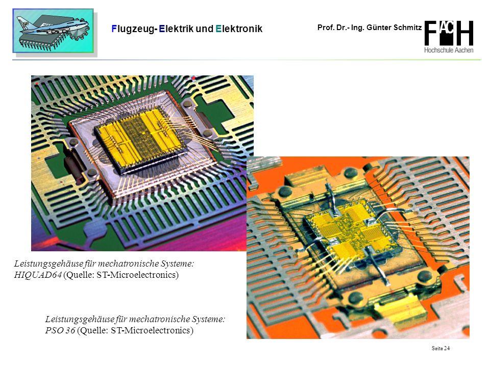 Prof. Dr.- Ing. Günter Schmitz Flugzeug- Elektrik und Elektronik Seite 24 Leistungsgehäuse für mechatronische Systeme: HIQUAD64 (Quelle: ST-Microelect