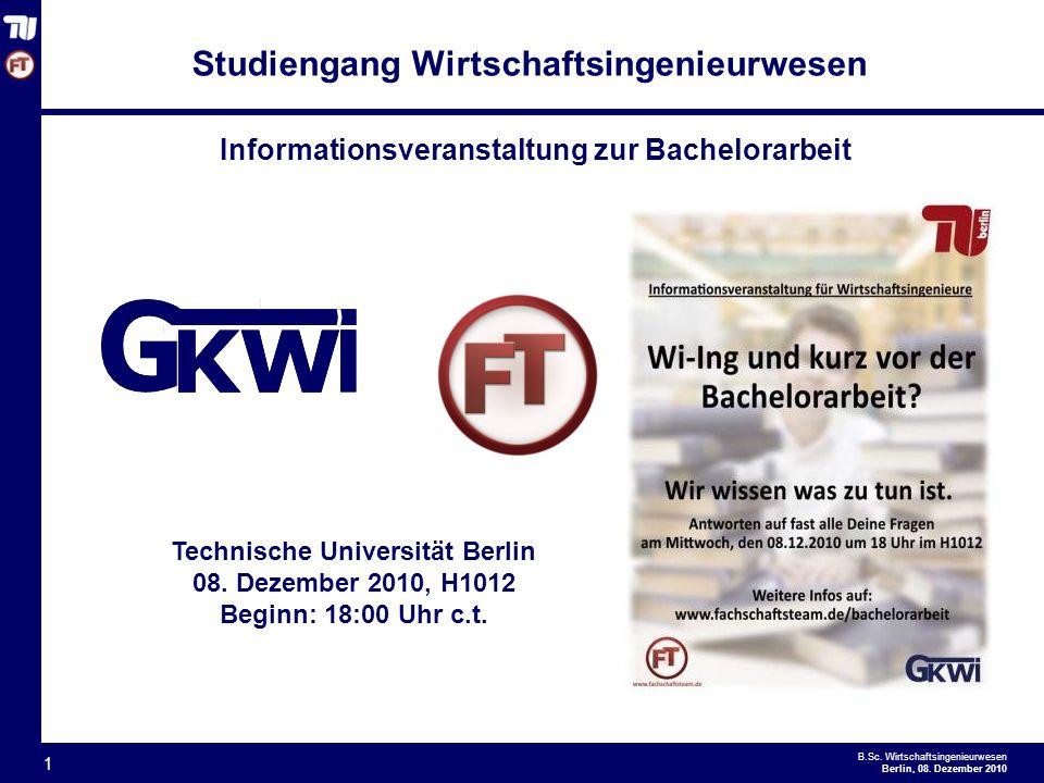 - 1 - B.Sc.Wirtschaftsingenieurwesen Berlin, 08.