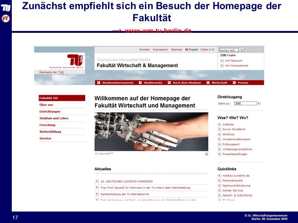- 17 - B.Sc.Wirtschaftsingenieurwesen Berlin, 08.