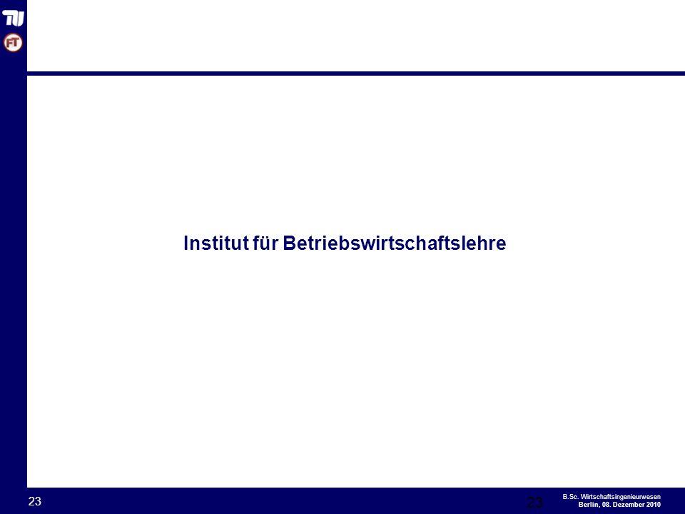 - 23 - B.Sc.Wirtschaftsingenieurwesen Berlin, 08.