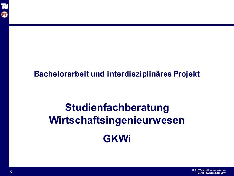 - 3 - B.Sc.Wirtschaftsingenieurwesen Berlin, 08.