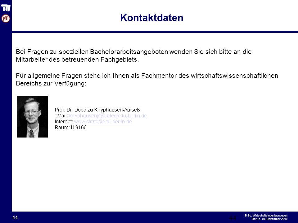 - 44 - B.Sc.Wirtschaftsingenieurwesen Berlin, 08.