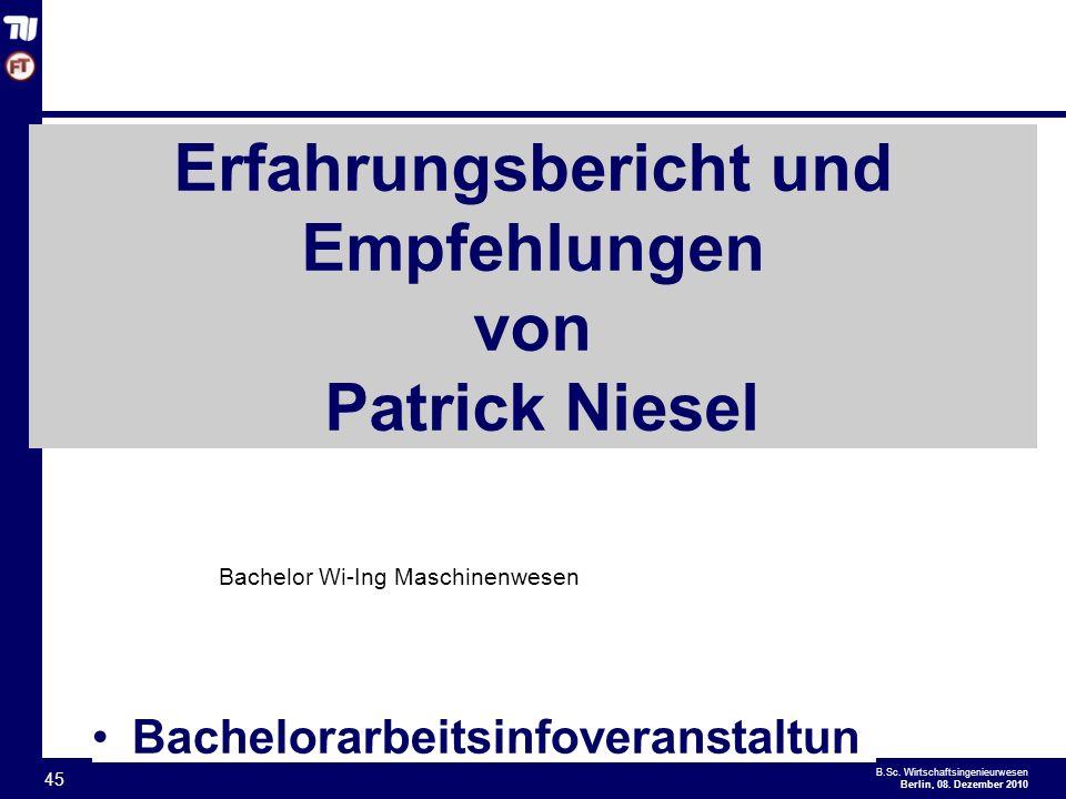 - 45 - B.Sc.Wirtschaftsingenieurwesen Berlin, 08.