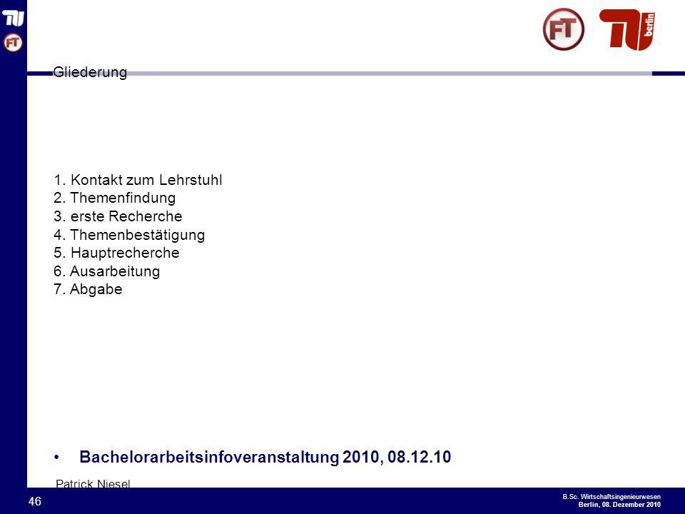 - 46 - B.Sc.Wirtschaftsingenieurwesen Berlin, 08.