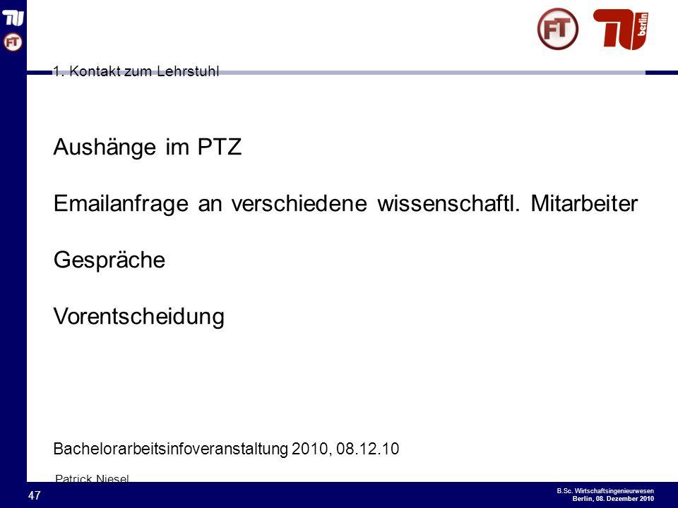 - 47 - B.Sc.Wirtschaftsingenieurwesen Berlin, 08.