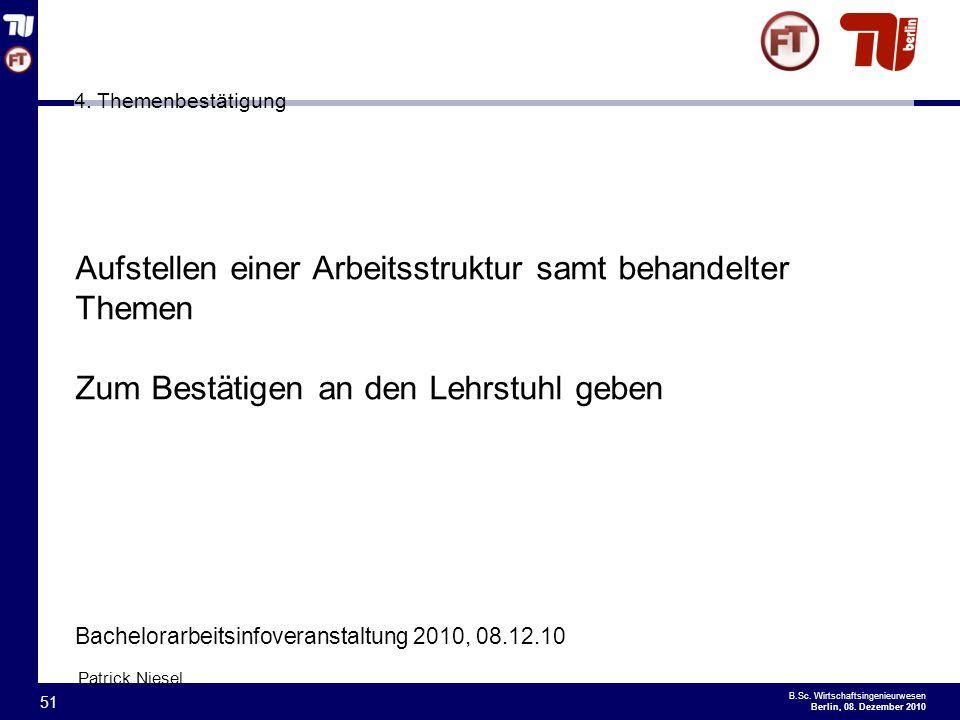 - 51 - B.Sc.Wirtschaftsingenieurwesen Berlin, 08.