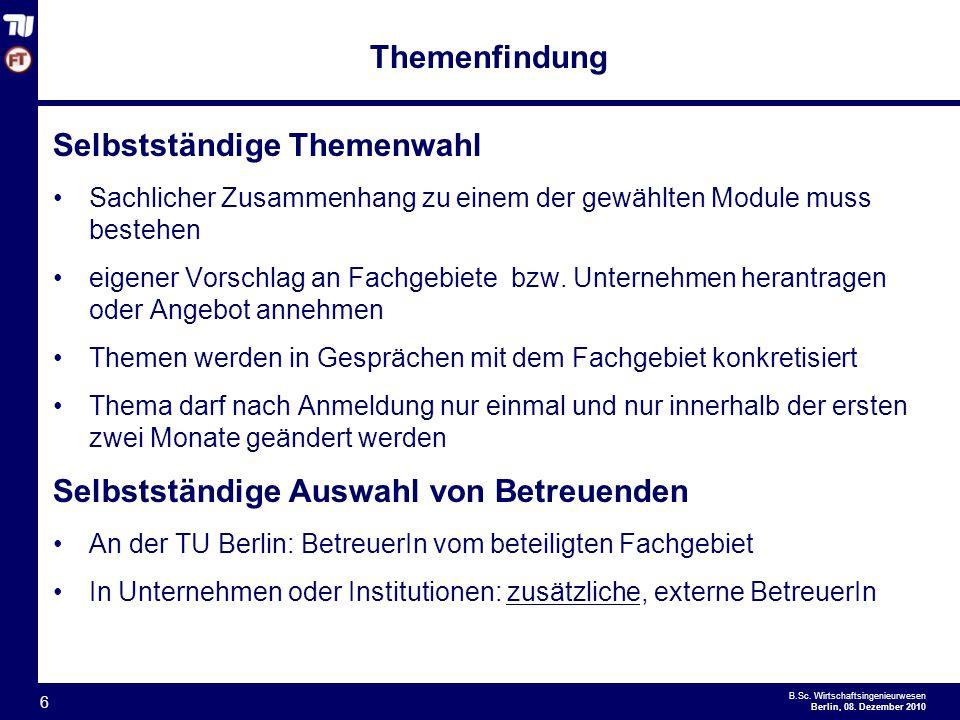 - 6 - B.Sc.Wirtschaftsingenieurwesen Berlin, 08.