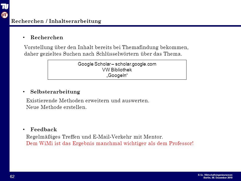 - 62 - B.Sc.Wirtschaftsingenieurwesen Berlin, 08.