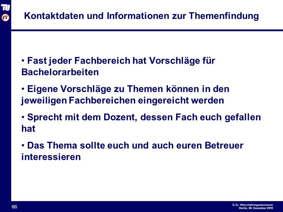 - 66 - B.Sc.Wirtschaftsingenieurwesen Berlin, 08.