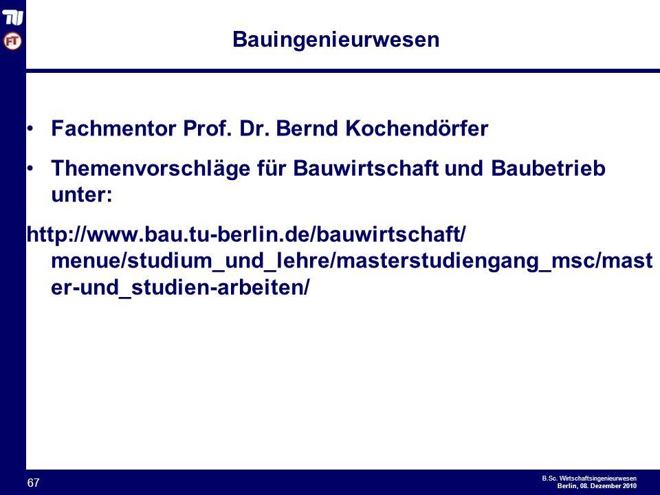 - 67 - B.Sc.Wirtschaftsingenieurwesen Berlin, 08.