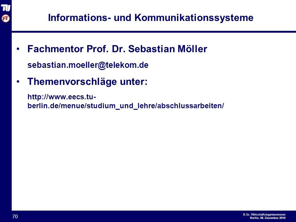 - 70 - B.Sc.Wirtschaftsingenieurwesen Berlin, 08.
