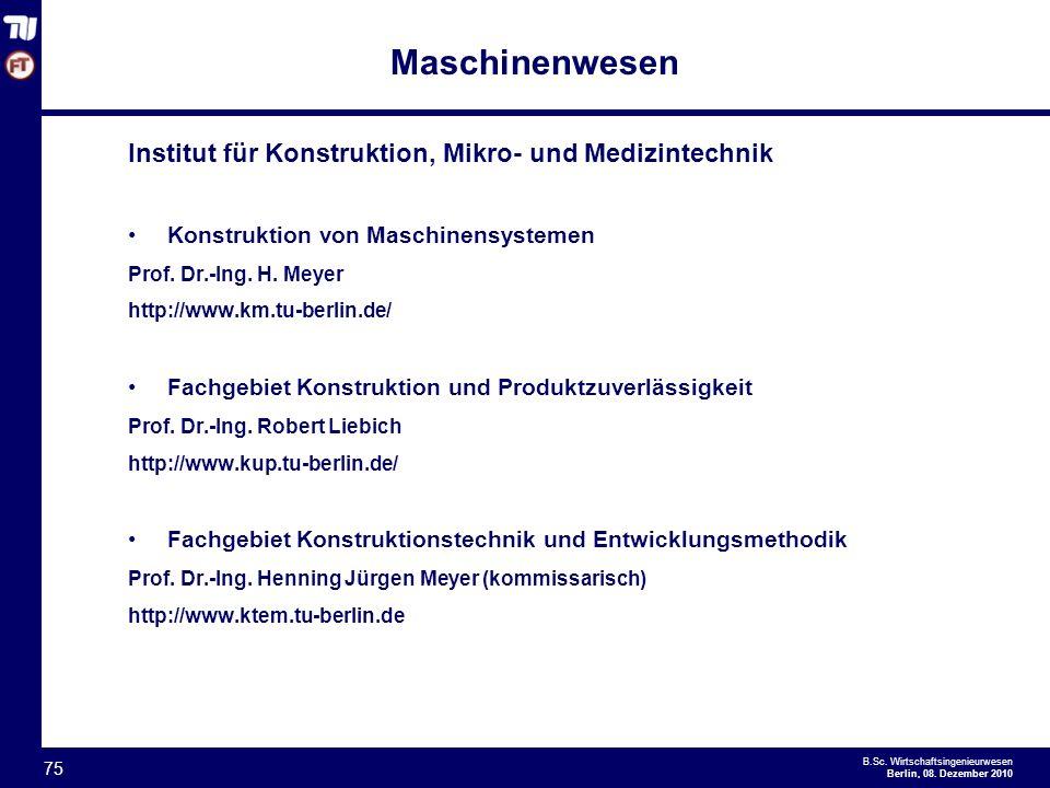 - 75 - B.Sc.Wirtschaftsingenieurwesen Berlin, 08.