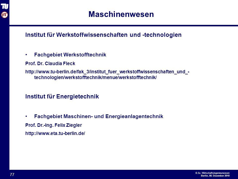 - 77 - B.Sc.Wirtschaftsingenieurwesen Berlin, 08.