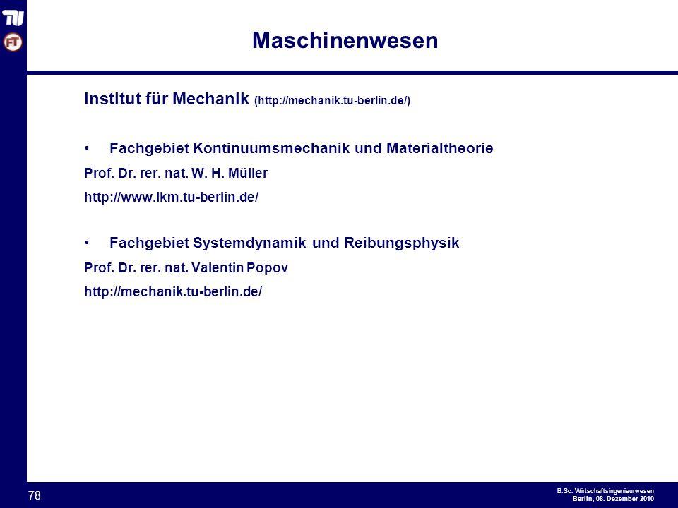 - 78 - B.Sc.Wirtschaftsingenieurwesen Berlin, 08.