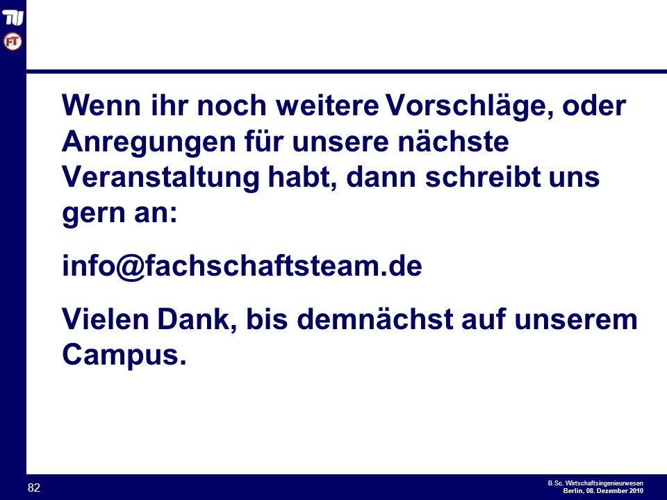 - 82 - B.Sc.Wirtschaftsingenieurwesen Berlin, 08.