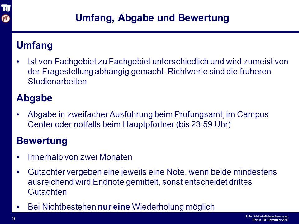 - 9 - B.Sc.Wirtschaftsingenieurwesen Berlin, 08.