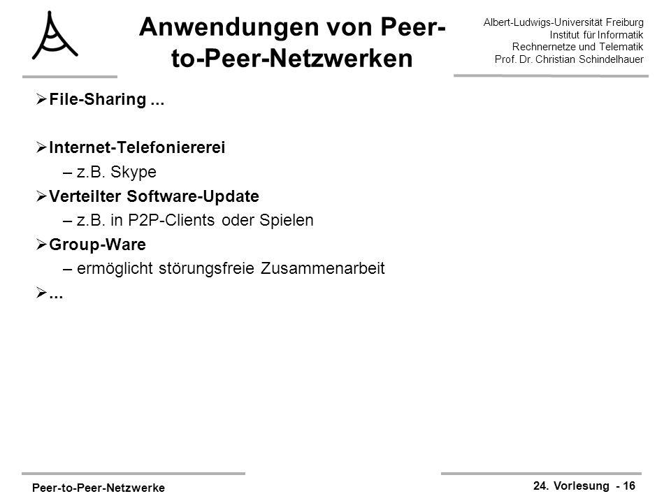 Peer-to-Peer-Netzwerke 24.
