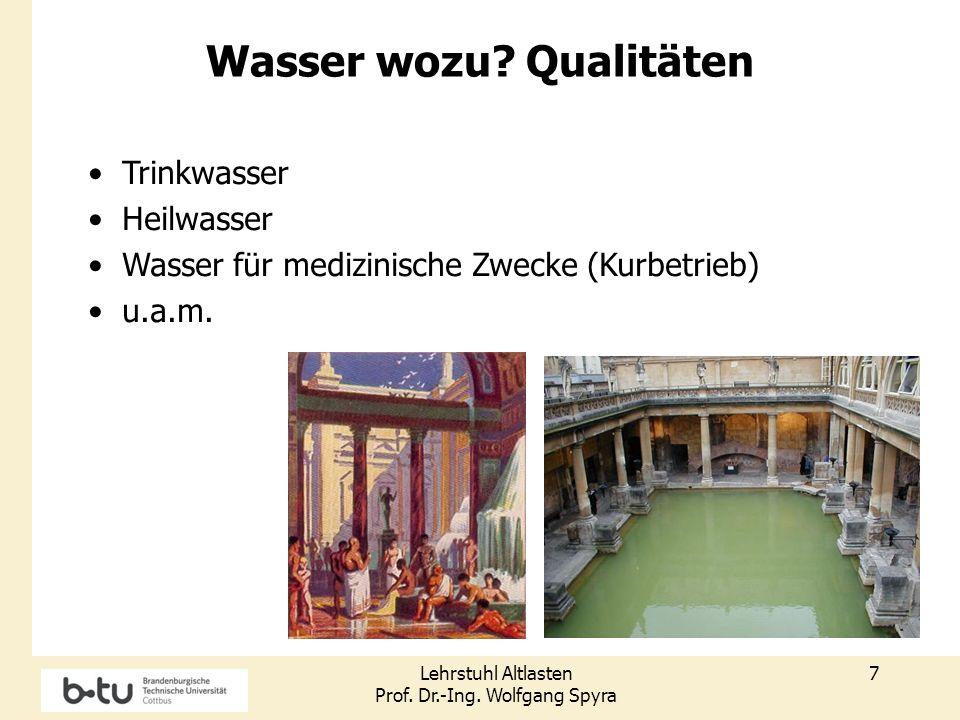 Lehrstuhl Altlasten Prof.Dr.-Ing. Wolfgang Spyra 8 GOK 1.