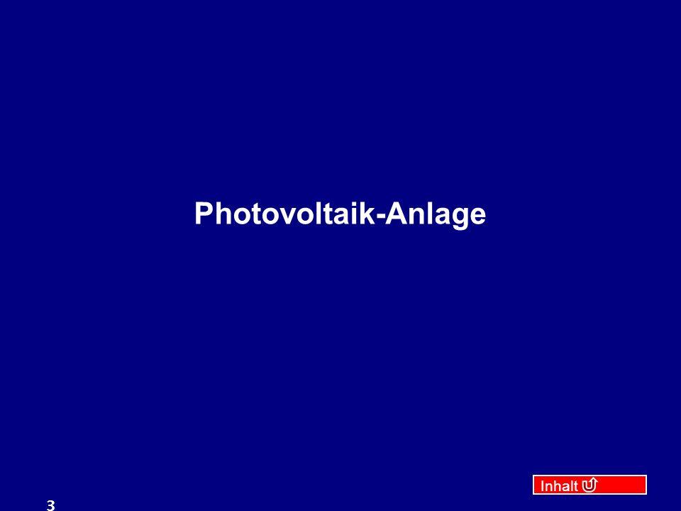 Inhalt 3 Photovoltaik-Anlage