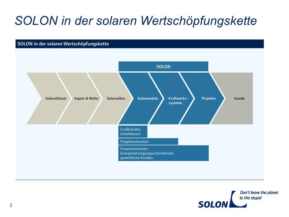5 SOLON in der solaren Wertschöpfungskette