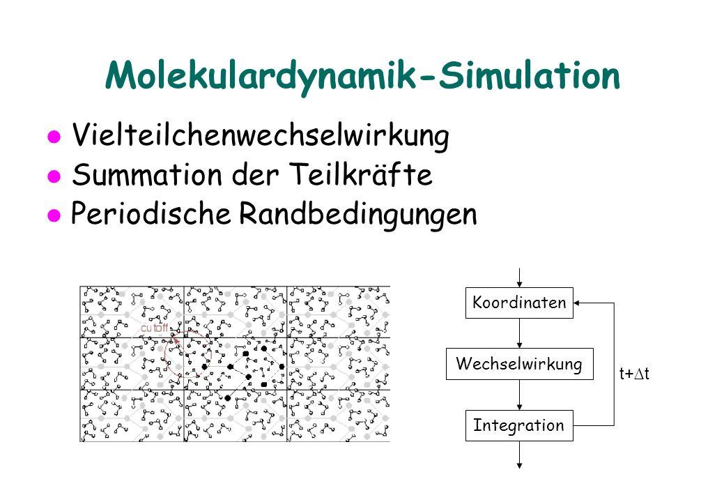 Grössenordnungen Molekulare Systeme: »36000 Atome, cutoff 1.4nm, pro Atom ca.