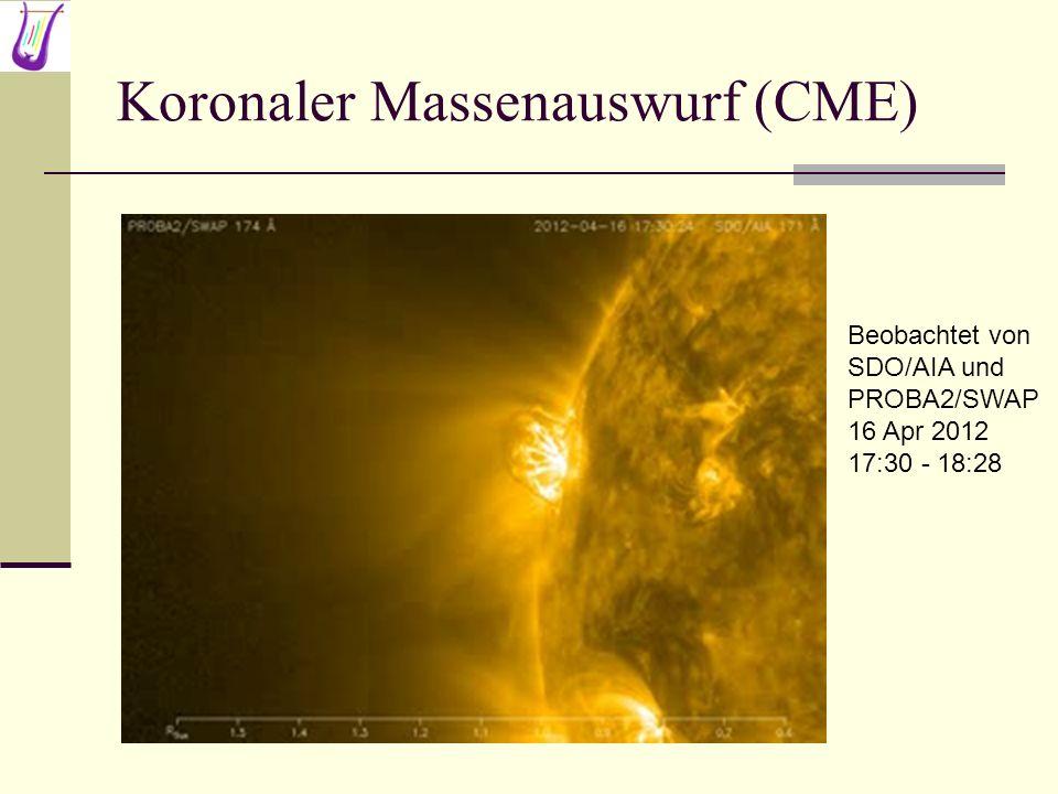 Koronaler Massenauswurf (CME) Beobachtet von SDO/AIA und PROBA2/SWAP 16 Apr 2012 17:30 - 18:28
