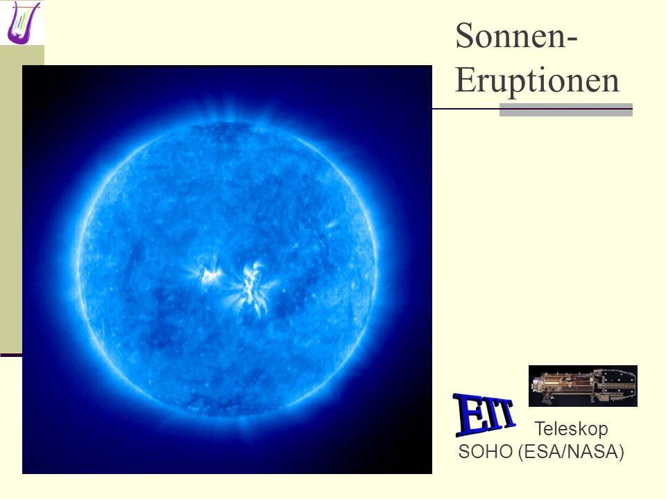 Teleskop SOHO (ESA/NASA) Sonnen- Eruptionen