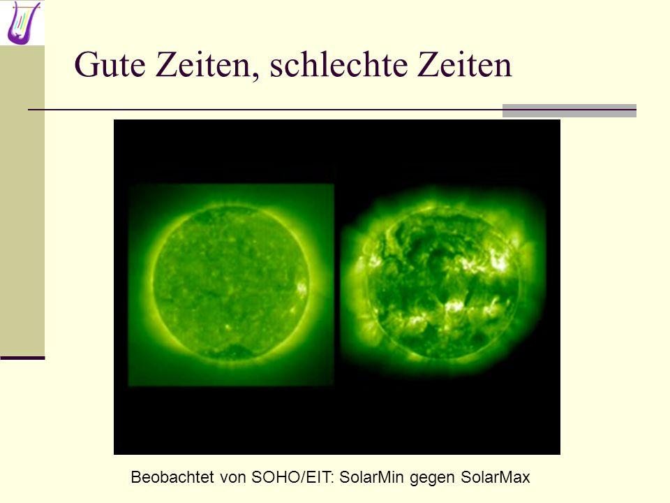 Gute Zeiten, schlechte Zeiten Beobachtet von SOHO/EIT: SolarMin gegen SolarMax
