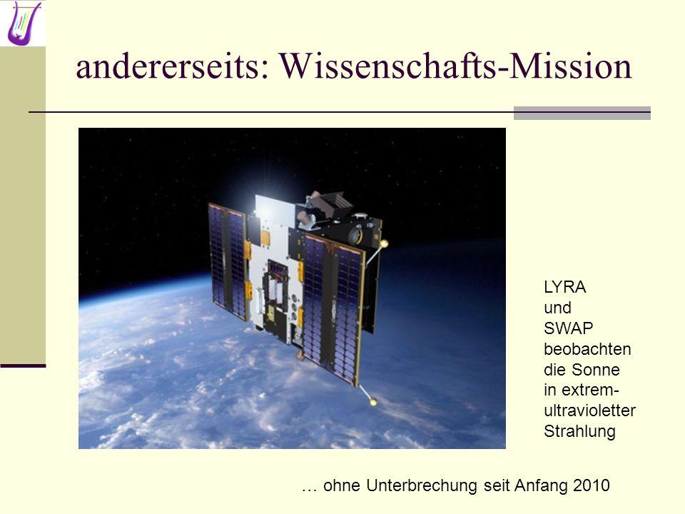 Was sehen SWAP und LYRA ? … und dafuer muessen wir in den Weltraum.