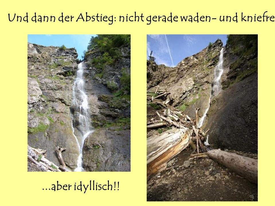 Und dann der Abstieg: nicht gerade waden- und kniefreundlich......aber idyllisch!!