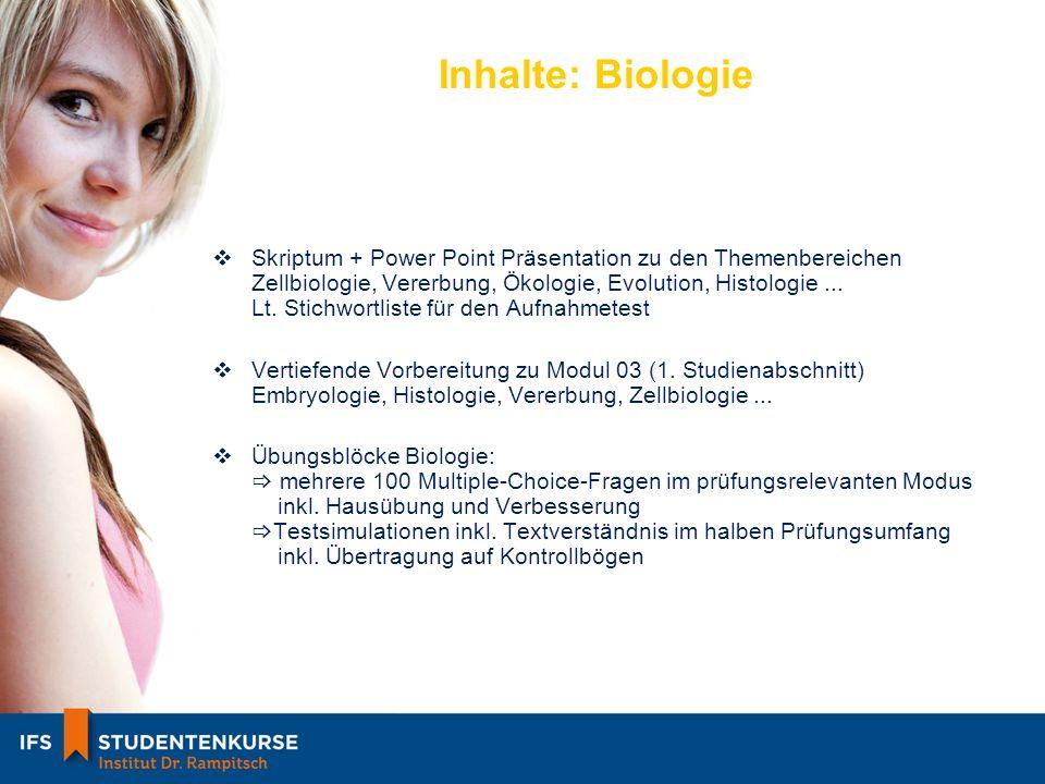 Inhalte: Biologie Skriptum + Power Point Präsentation zu den Themenbereichen Zellbiologie, Vererbung, Ökologie, Evolution, Histologie...