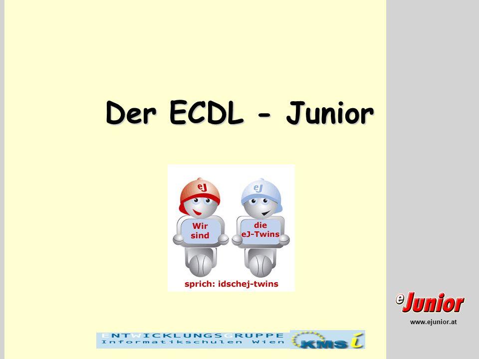 www.ejunior.at Der ECDL - Junior