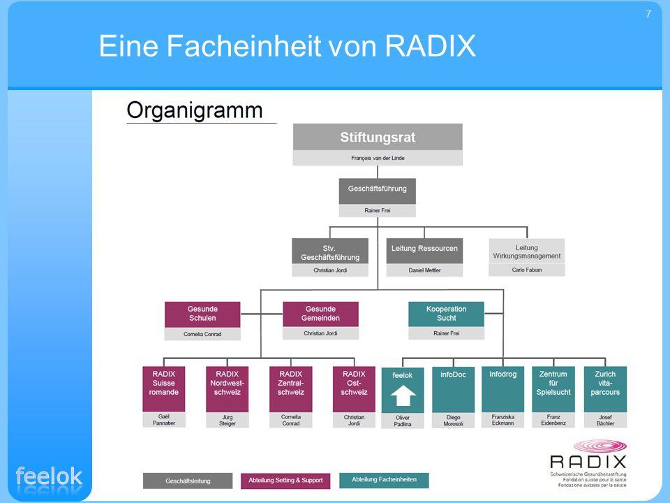 Die Gesundheitsstiftung RADIX besteht seit 1972 als gemeinnützige Stiftung und ist schweizweit tätig.