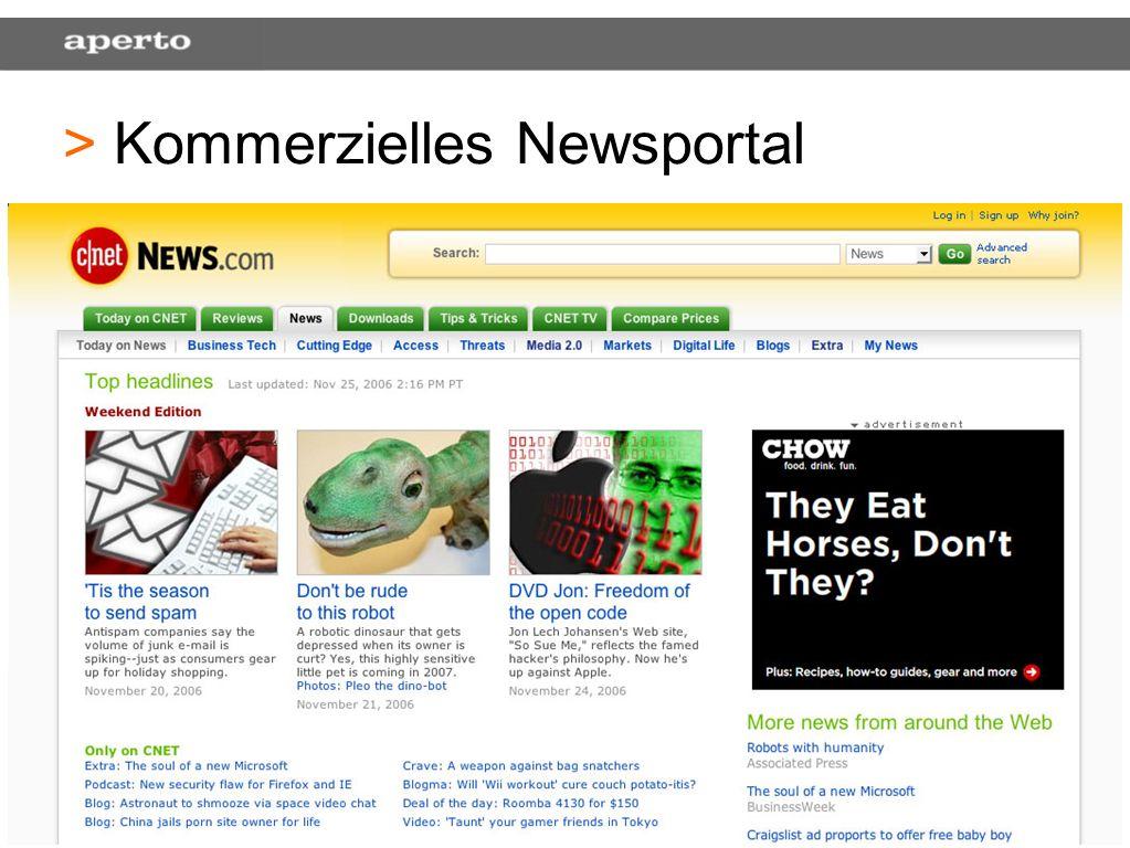 34 > > Kommerzielles Newsportal