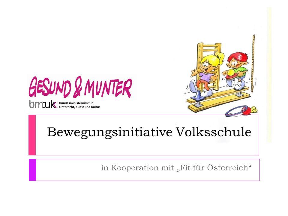 Bewegungsinitiative Volksschule in Kooperation mit Fit für Österreich