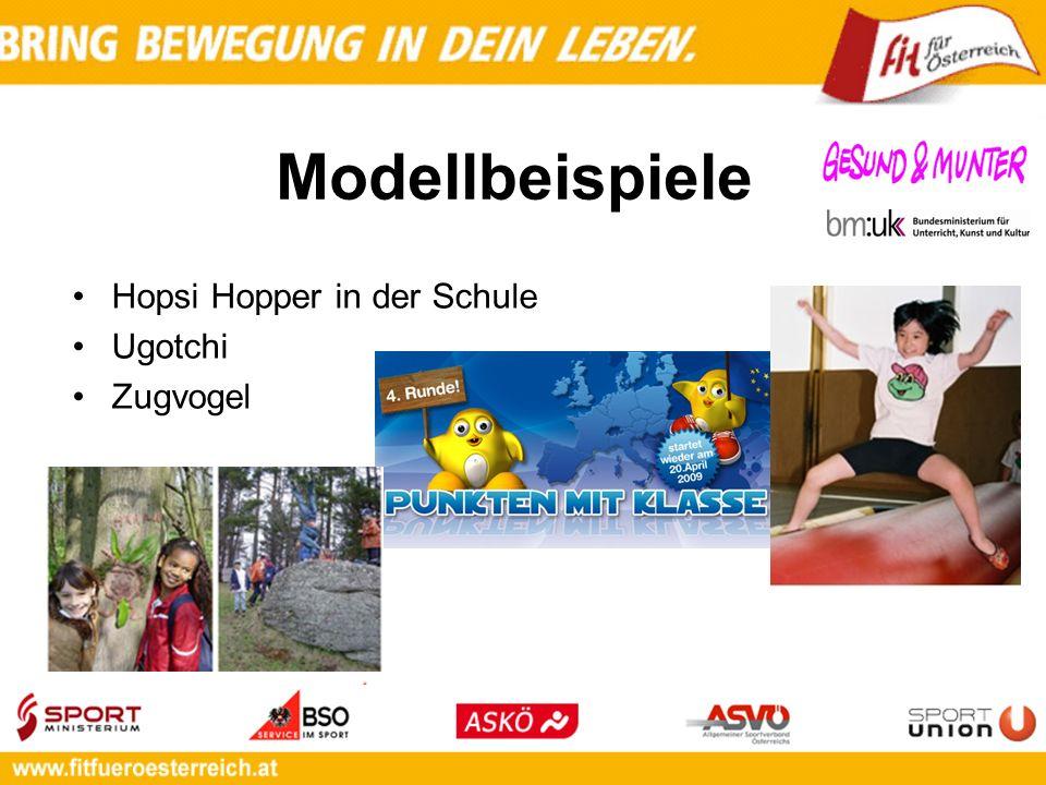 Modellbeispiele Hopsi Hopper in der Schule Ugotchi Zugvogel