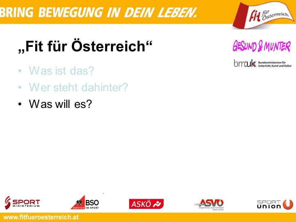 Fit für Österreich Was ist das? Wer steht dahinter? Was will es?