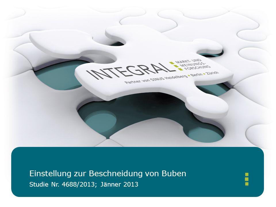 Studie Nr. 4688/2013; Jänner 2013 Einstellung zur Beschneidung von Buben