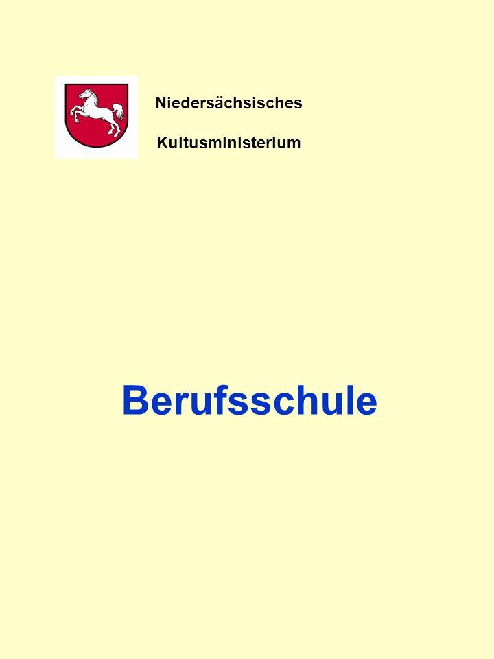 Niedersächsisches Kultusministerium Berufsschule