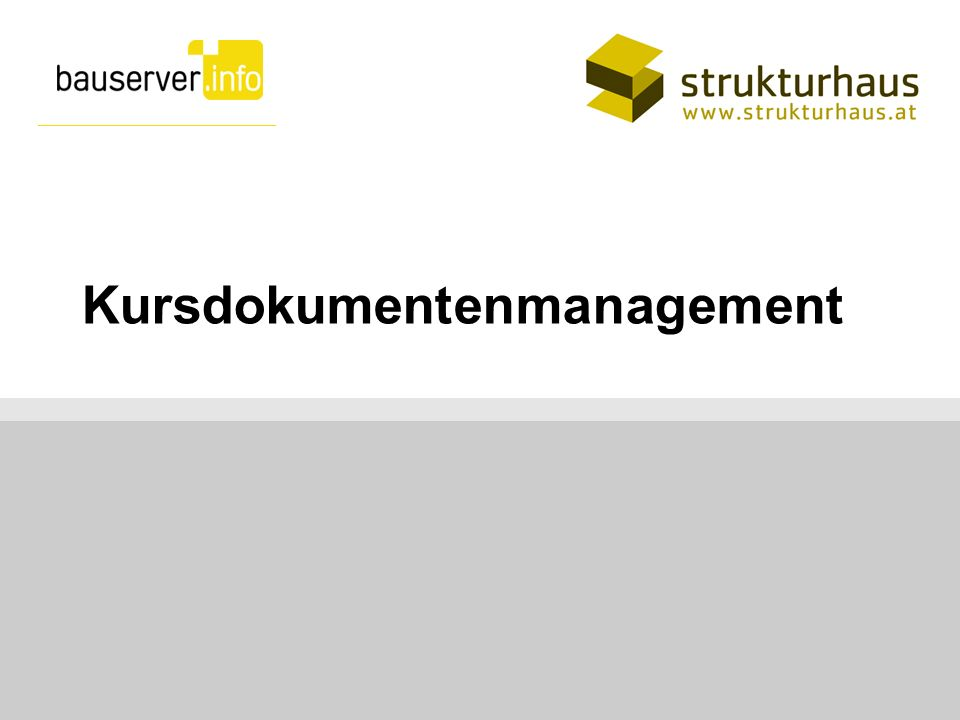 Kursdokumentenmanagement