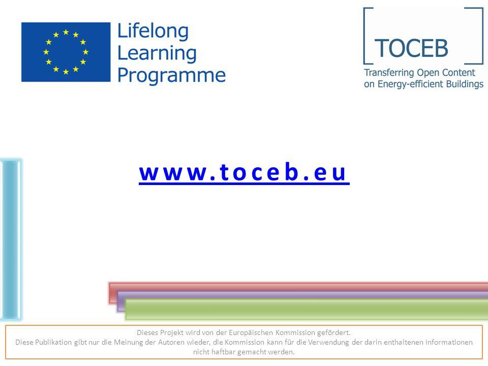www.toceb.eu Dieses Projekt wird von der Europäischen Kommission gefördert.