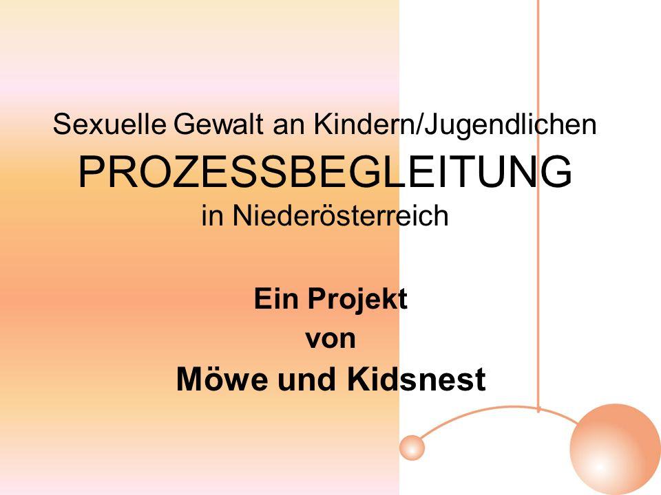 Sexuelle Gewalt an Kindern/Jugendlichen PROZESSBEGLEITUNG in Niederösterreich Ein Projekt von Möwe und Kidsnest