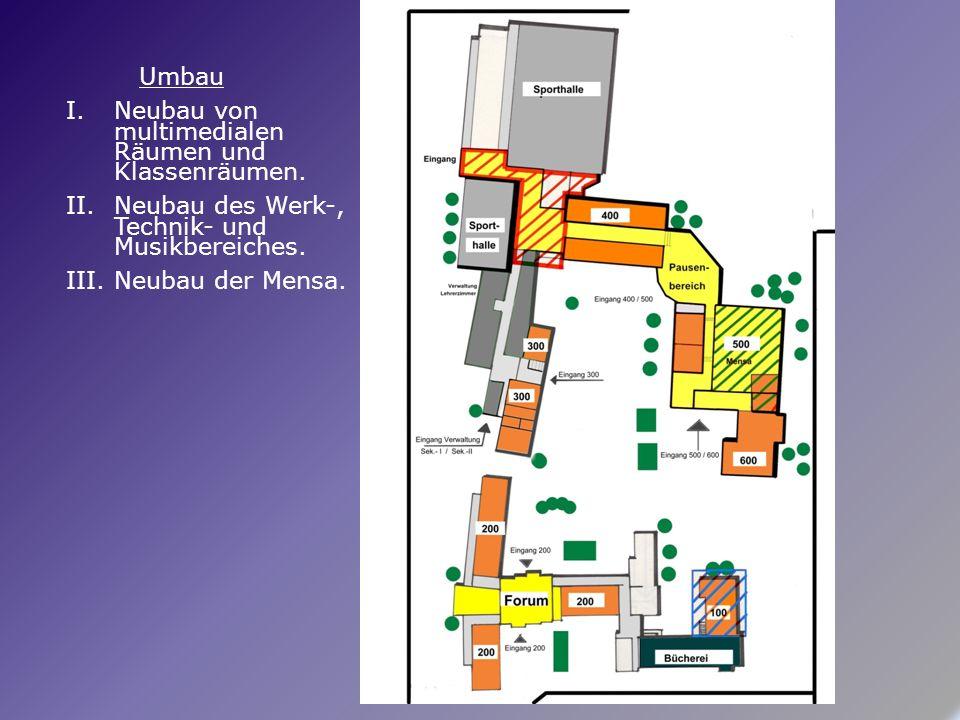 Umbau I.Neubau von multimedialen Räumen und Klassenräumen.
