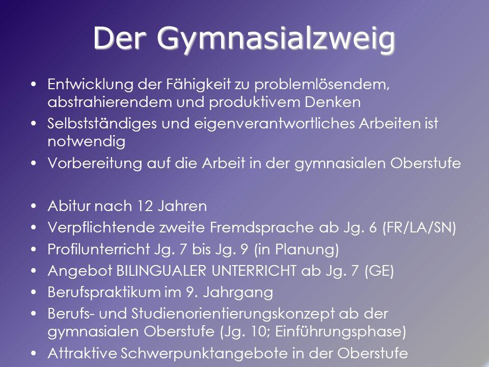 Profilunterricht Jg.7 bis Jg.9 Sprachliches Profil (z.B.