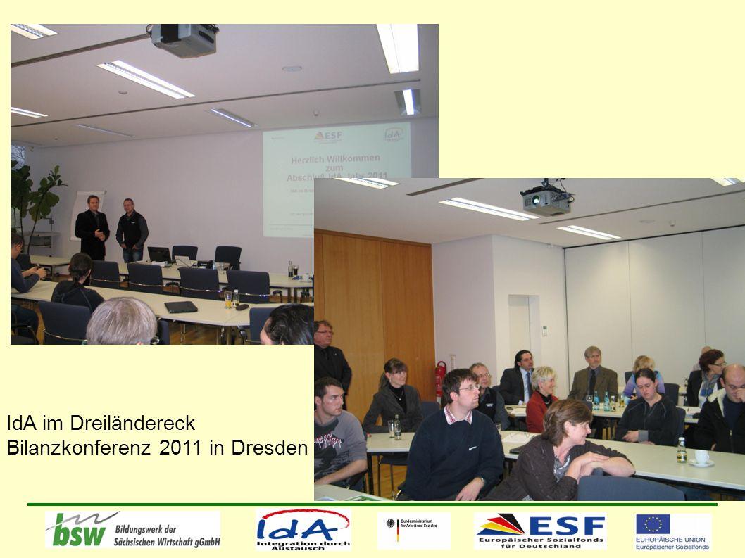 IdA im Dreiländereck Bilanzkonferenz 2011 in Dresden