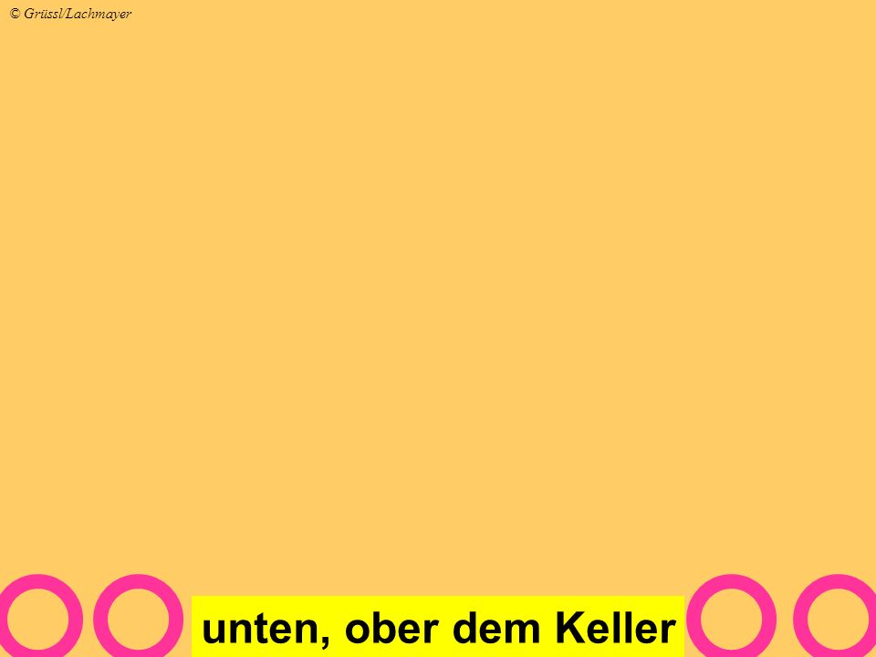 unten, ober dem Keller © Grüssl/Lachmayer